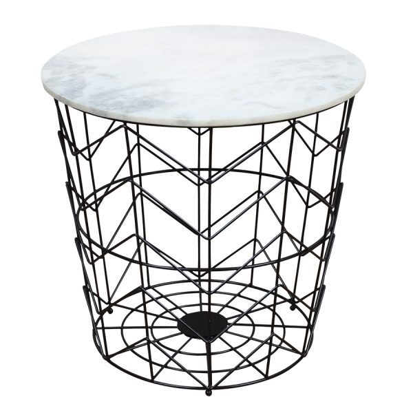 Schwarzer tisch mit wei er marmorplatte popshop for Weisser tisch mit dunkler platte