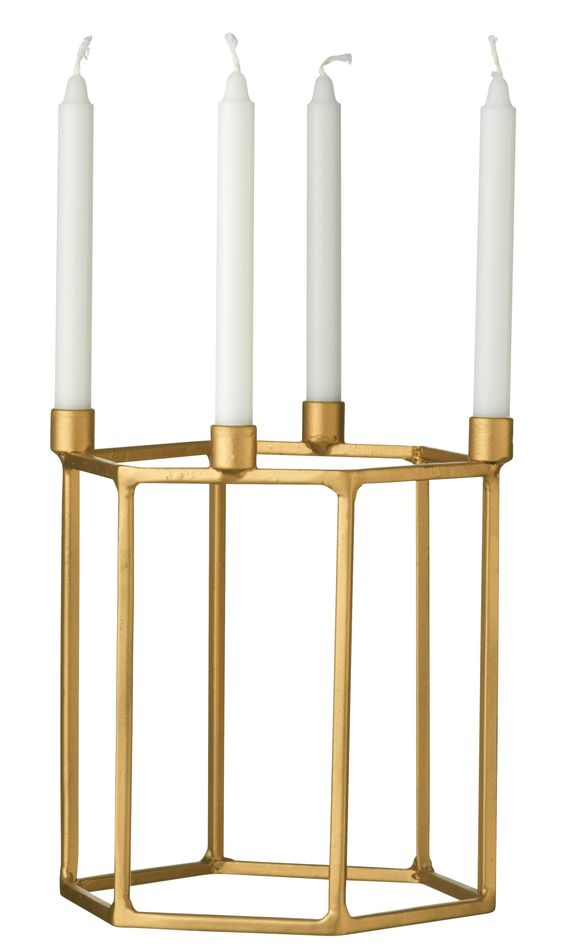 hexagonal-candle-holder-gold