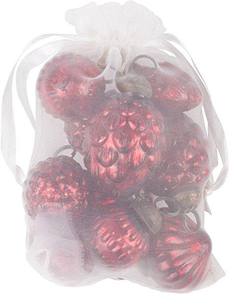 Tüte mit zehn roten Weihnachtskugeln