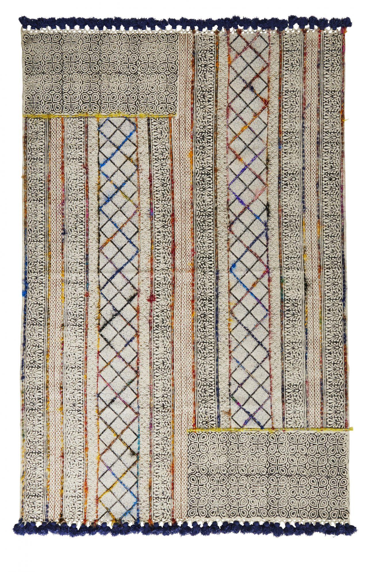 Handgewobener Teppich aus Baumwolle