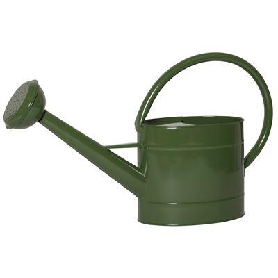 Grüne Emaille Gießkanne