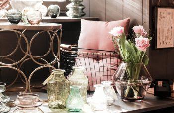 Große Vase cognacfarben