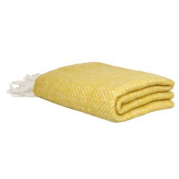 Gelbe Wolldecke