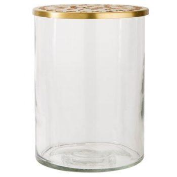 Vase mit Messingaufsatz