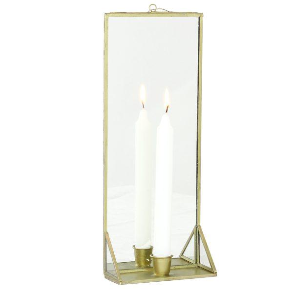 Wand-Kerzenhalter mit Spiegel
