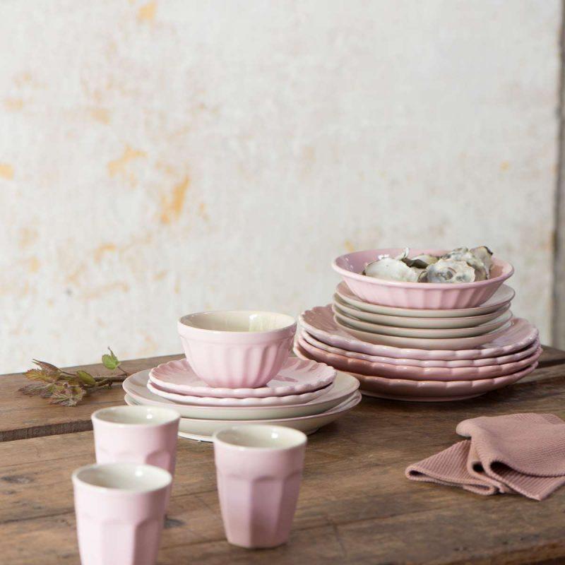 gestrickter topflappen rosa