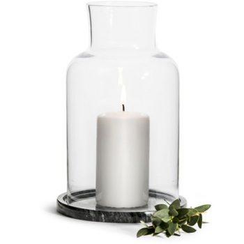 Laterne Glas und Marmor