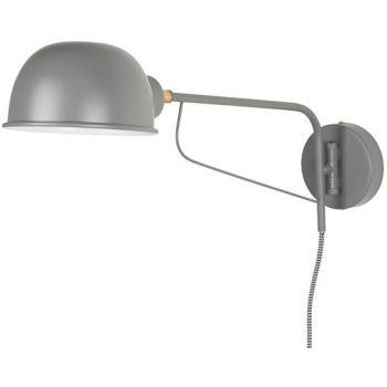 Graue Wandlampe