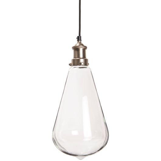 Tropfenförmige Lampe groß