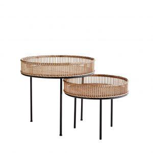 Skandinavisches Designer Bambustisch Set