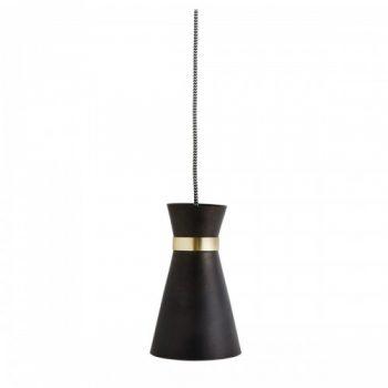 Deckenlampe Schwarz/Messing/Eisen