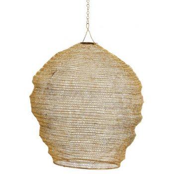 Goldener Lampenschirm aus Draht