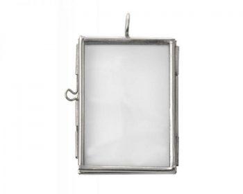 Mini Bilderrahmen in silber. Der Name ist Programm - er ist miniklein: 5,5 x 4 cm.