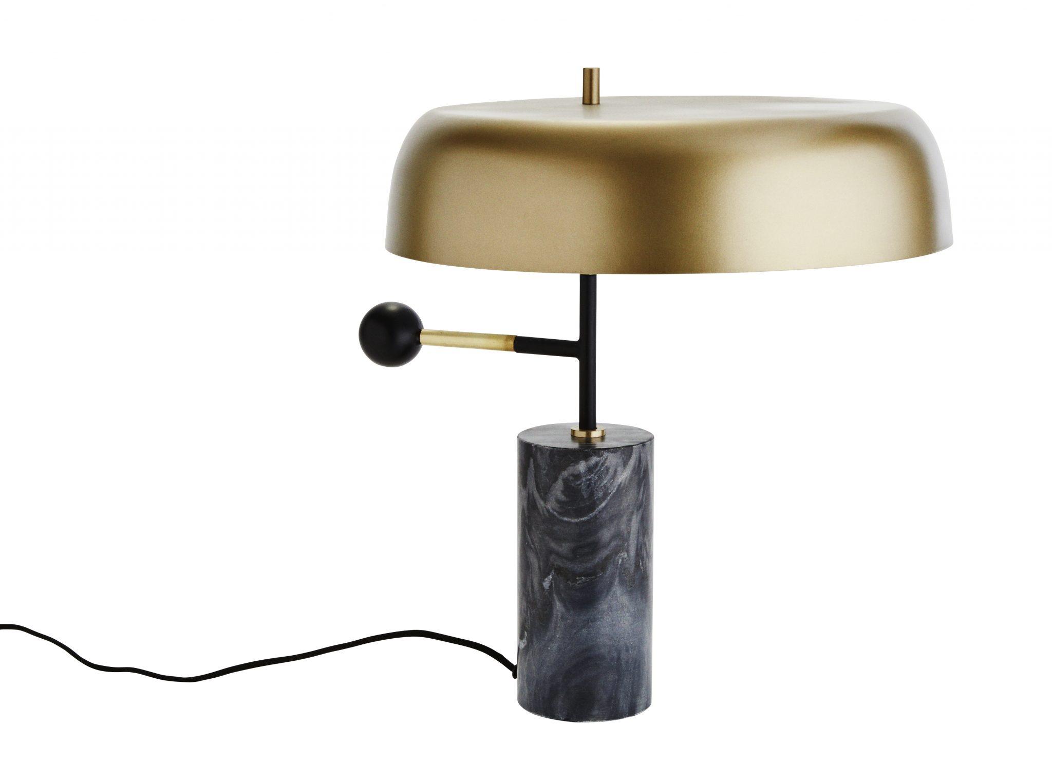 Moderne Stehlampe aus Messing, Metall und Marmor