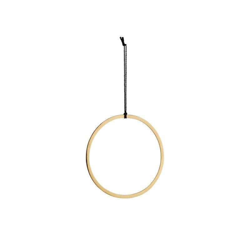 Deko-Ring gold, mit einem Durchmesser von ca. 28 cm.