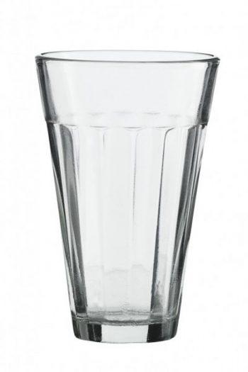 MIni Glas - 10,5 cm hoch und 6,7 cm breit, wobei es nach unten hin immer schmäler wird.