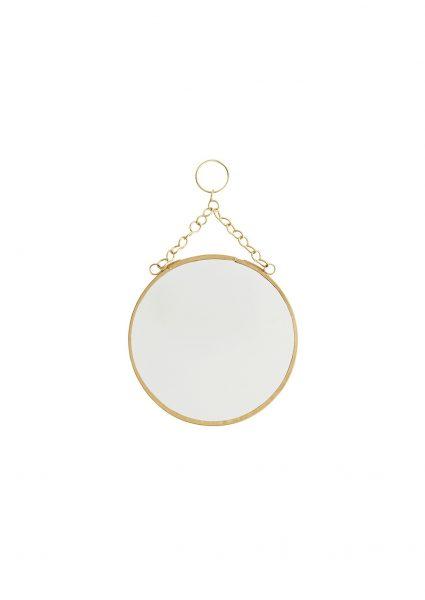 Dieser Mini Spiegel gold hat einen Durchmesser von ca. 14 cm und ist mit einer praktischen goldenen Kette ausgestattet, die das Aufhängen ganz einfach macht!
