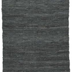Lederteppich grau