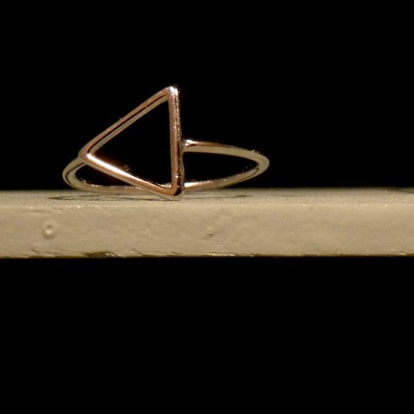 Ring Silber Sterling dreieckige Form