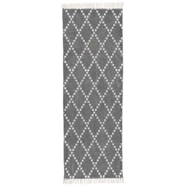 Teppich grau weiß