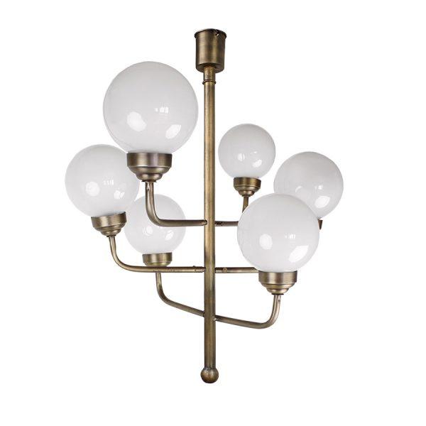 große lampe mit 6 glaskugeln