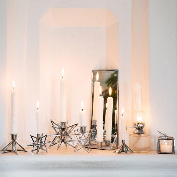 spiegel mit kerzenhalter silber popshop skandinavische einrichtung. Black Bedroom Furniture Sets. Home Design Ideas