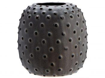 Steingut Vase mit Punkten
