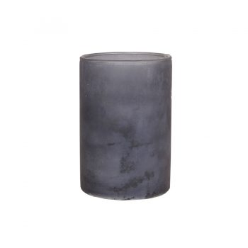 Graublaue Vase aus Glas
