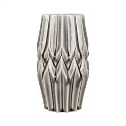 Graue Vase aus Keramik