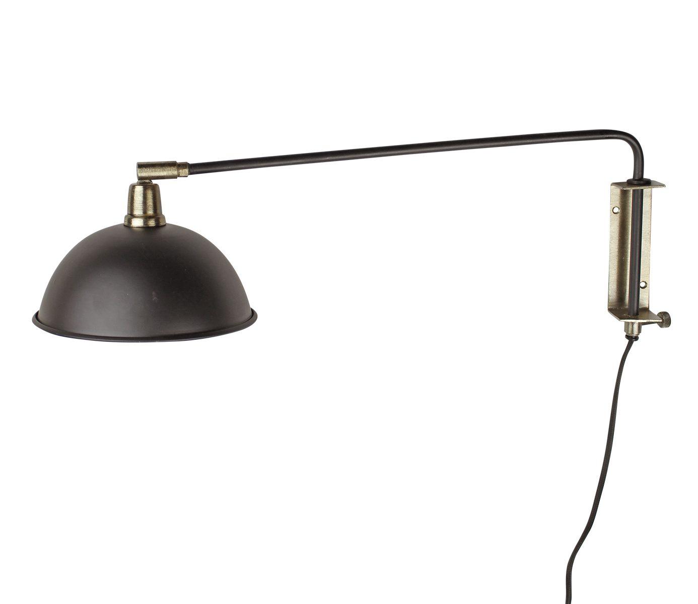 wandlampe-messing-metall-schwarz