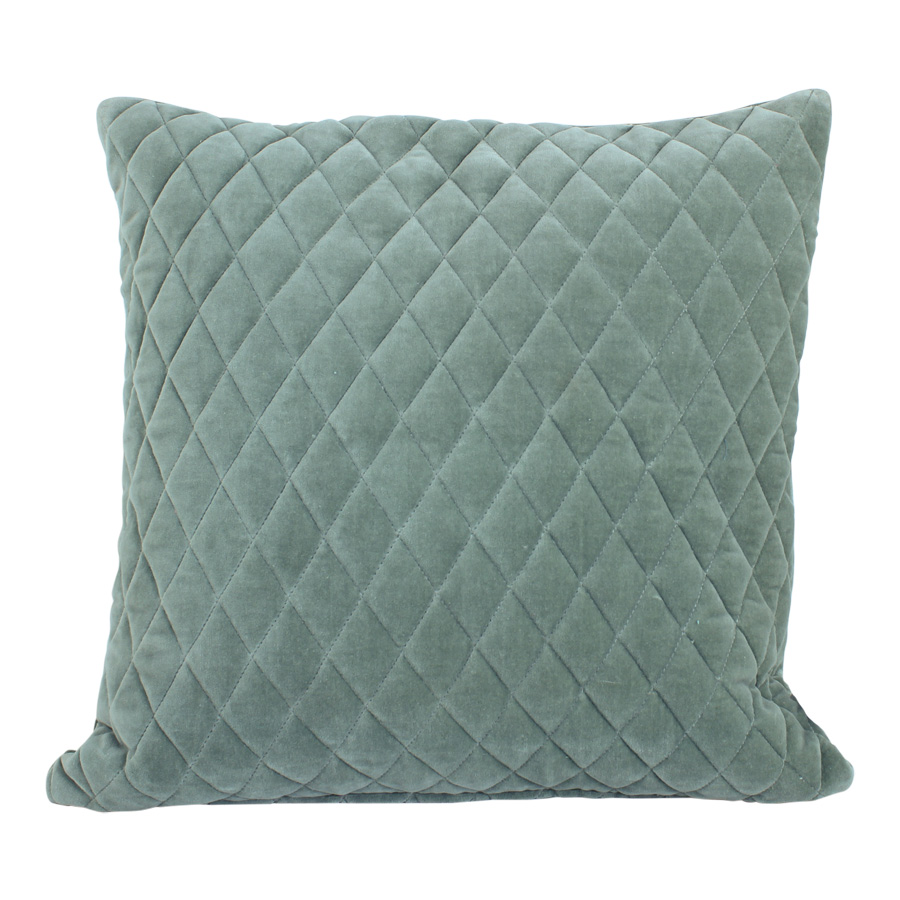 samt kissen diamond light green